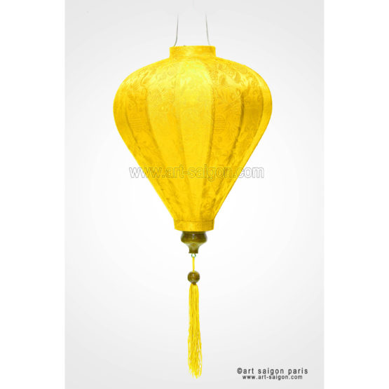 lampion lanterne jaune soie bambou hoi an vietnam asiatique art-saigon