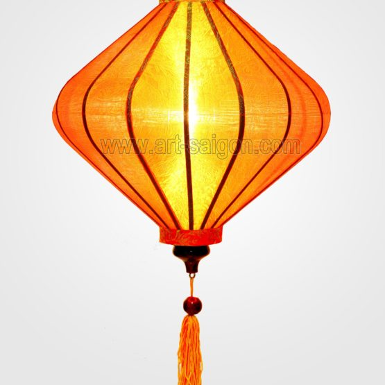 lampion lanterne orange soie bambou hoi an vietnam asiatique art-saigon