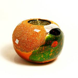 Bougeoir Boule Laqué nacre & coquilled'œuf art saigon vietnam