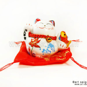 art-saigon-maneki-neko japon chat porte bonheur traditionnel