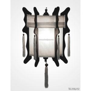 lampion lanterne blanc soie bambou hoi an vietnam asiatique art-saigon