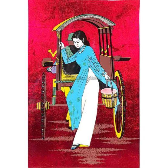 tableau en bois laque artisanat vietnam art-saigon