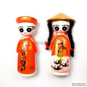 poupée vietnamienne magnet frigo vietnam art-saigon