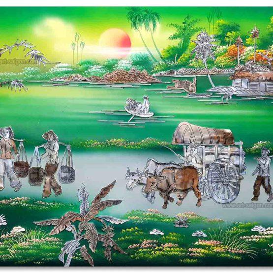 tableau bois laque art-saigon vietnam