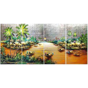 tableau en bois laqué nacre artisanat du vietnam art-saigon