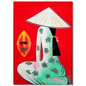 tableau en bois laqué artisanat du vietnam par art saigon